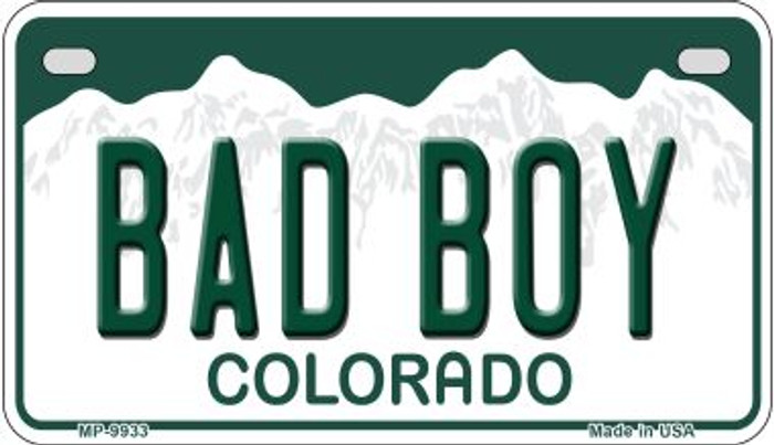 Bad Boy Colorado Wholesale Novelty Metal Motorcyle Plate MP-9933