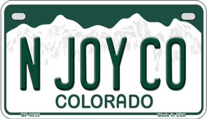 N Joy CO Colorado Wholesale Novelty Metal Motorcyle Plate MP-9935