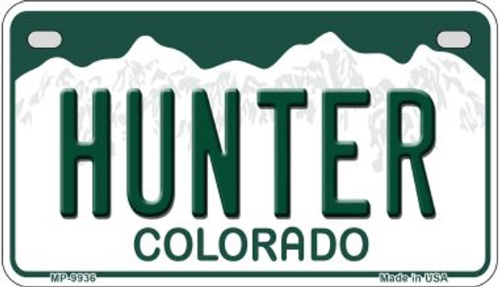 Hunter Colorado Wholesale Novelty Metal Motorcyle Plate MP-9936