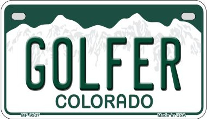 Golfer Colorado Wholesale Novelty Metal Motorcyle Plate MP-9937
