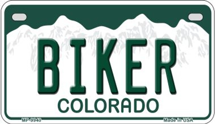 Biker Colorado Wholesale Novelty Metal Motorcyle Plate MP-9940