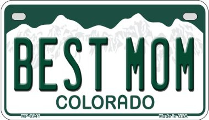 Best Mom Colorado Wholesale Novelty Metal Motorcyle Plate MP-9941