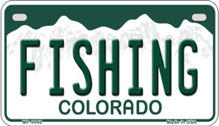 Fishing Colorado Wholesale Novelty Metal Motorcyle Plate MP-9948