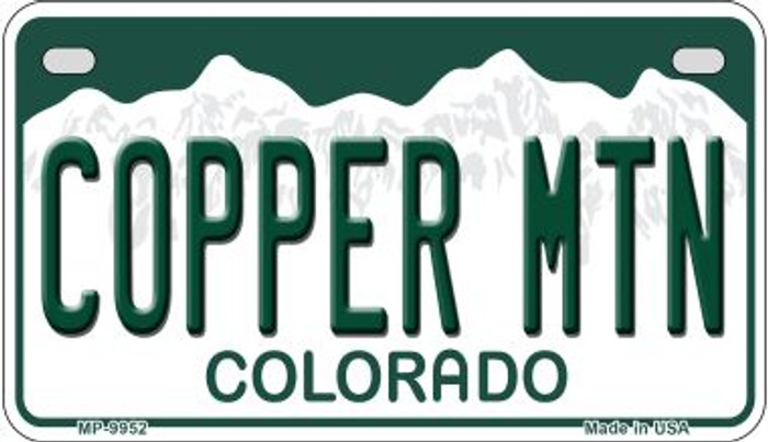 Copper Mountain Colorado Wholesale Novelty Metal Motorcyle Plate MP-9952