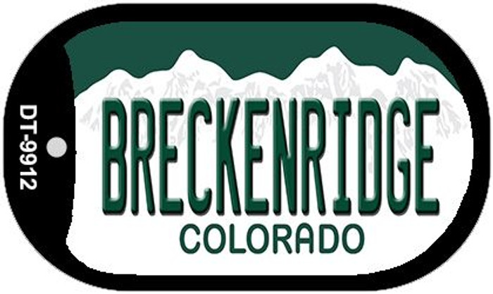 Breckenridge Colorado Wholesale Novelty Metal Dog Tag Necklace DT-9912