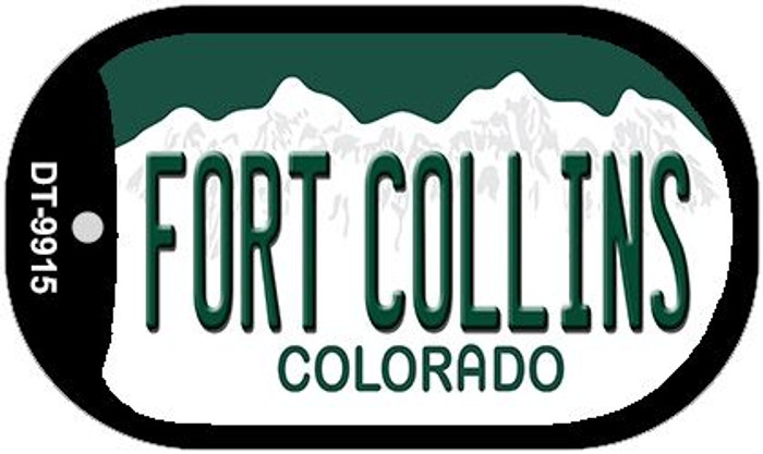Fort Collins Colorado Wholesale Novelty Metal Dog Tag Necklace DT-9915