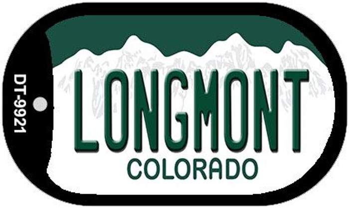 Longmont Colorado Wholesale Novelty Metal Dog Tag Necklace DT-9921