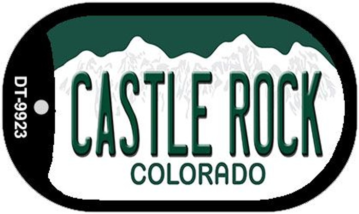Castle Rock Colorado Wholesale Novelty Metal Dog Tag Necklace DT-9923