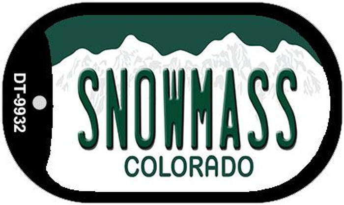 Snowmass Colorado Wholesale Novelty Metal Dog Tag Necklace DT-9932