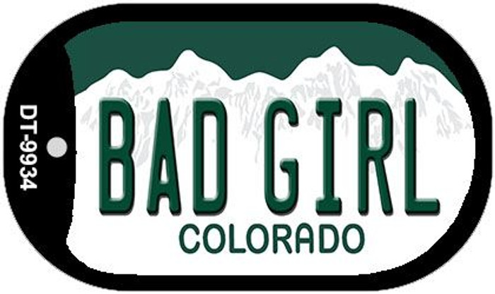 Bad Girl Colorado Wholesale Novelty Metal Dog Tag Necklace DT-9934