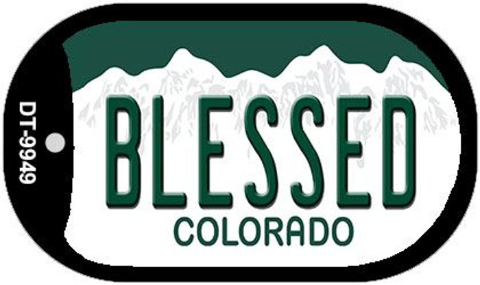 Blessed Colorado Wholesale Novelty Metal Dog Tag Necklace DT-9949