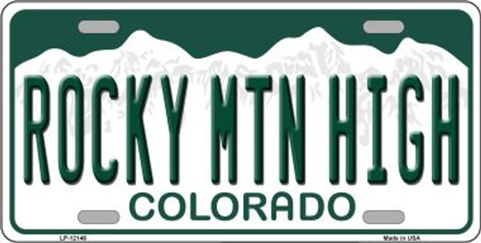 Rocky Mountain High Colorado Wholesale Novelty Metal License Plate LP-12146