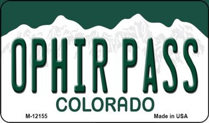 Ophir Pass Colorado Wholesale Novelty Metal Magnet M-12155