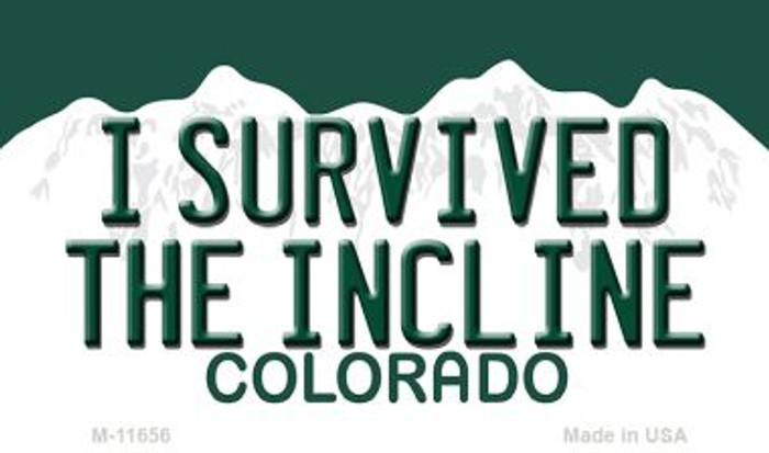I Survived The Incline Colorado Wholesale Novelty Metal Magnet M-11656