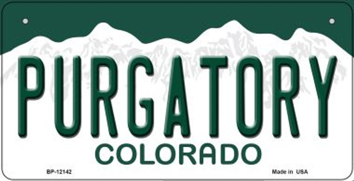 Purgatory Colorado Wholesale Novelty Metal Bicycle Plate BP-12142