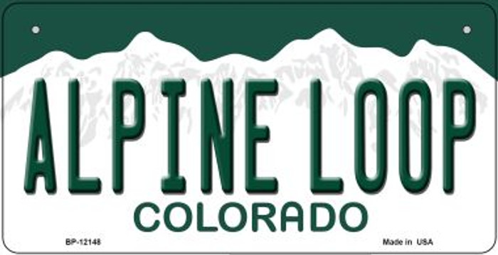 Alpine Loop Colorado Wholesale Novelty Metal Bicycle Plate BP-12148