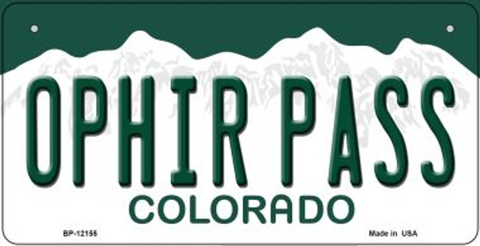 Ophir Pass Colorado Wholesale Novelty Metal Bicycle Plate BP-12155