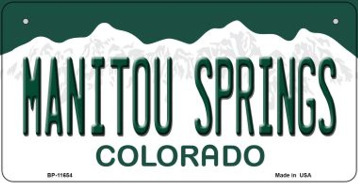 Manitou Springs Colorado Wholesale Novelty Metal Bicycle Plate BP-11654