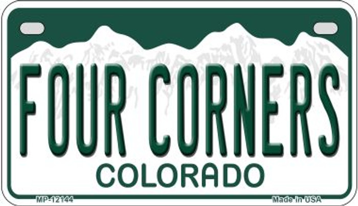 Four Corners Colorado Wholesale Novelty Metal Motorcycle Plate MP-12144
