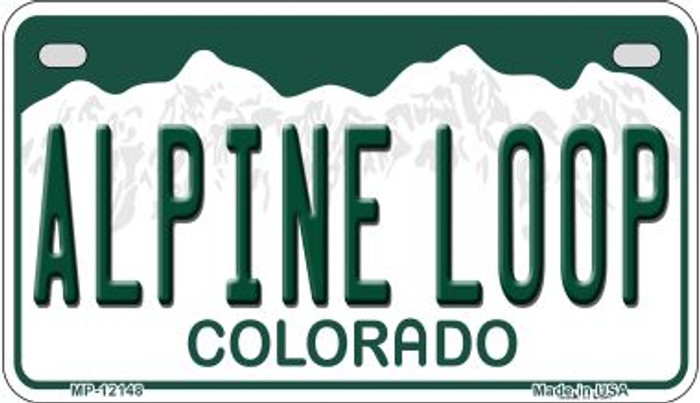 Alpine Loop Colorado Wholesale Novelty Metal Motorcycle Plate MP-12148