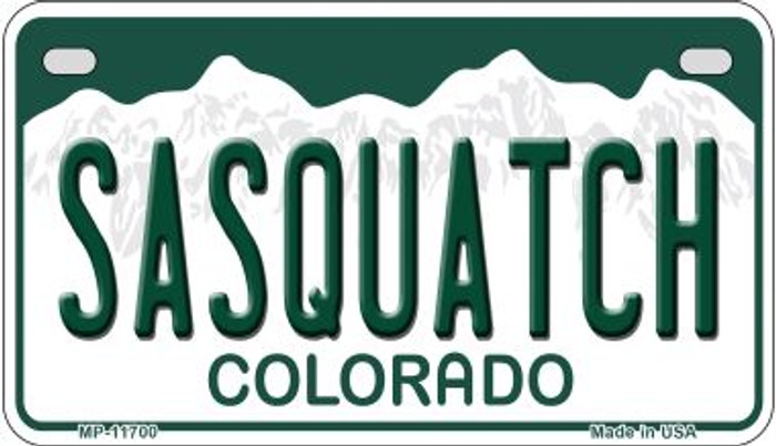 Sasquatch Colorado Wholesale Novelty Metal Motorcycle Plate MP-11700