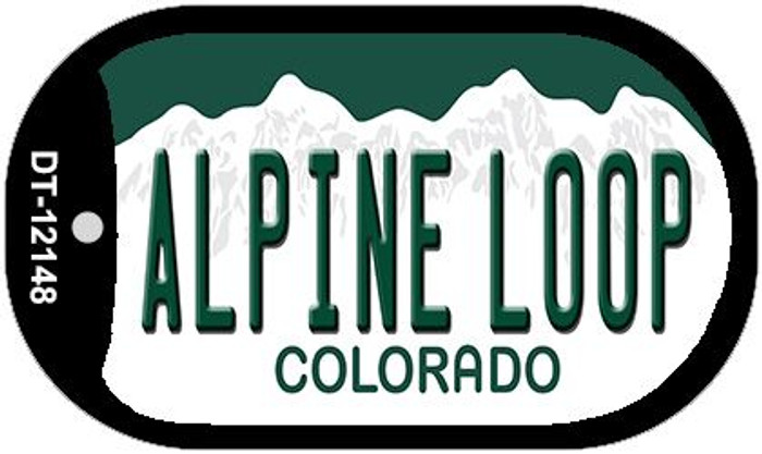 Alpine Loop Colorado Wholesale Novelty Metal Dog Tag Necklace DT-12148