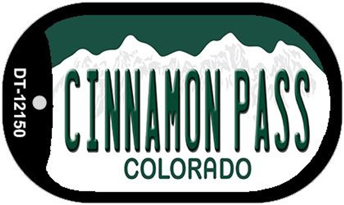 Cinnamon Pass Colorado Wholesale Novelty Metal Dog Tag Necklace DT-12150