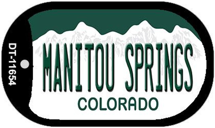 Manitou Springs Colorado Wholesale Novelty Metal Dog Tag Necklace DT-11654