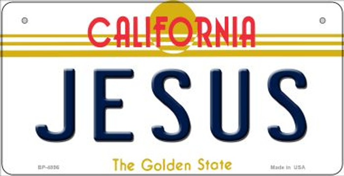 Jesus California Wholesale Novelty Metal Bicycle Plate BP-4896