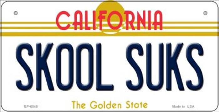 Skool Suks California Wholesale Novelty Metal Bicycle Plate BP-6846