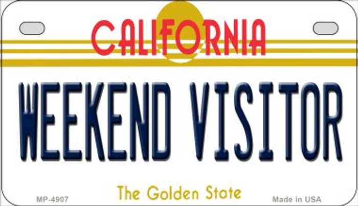 Weekend Visitor California Wholesale Novelty Metal Motorcycle Plate MP-4907