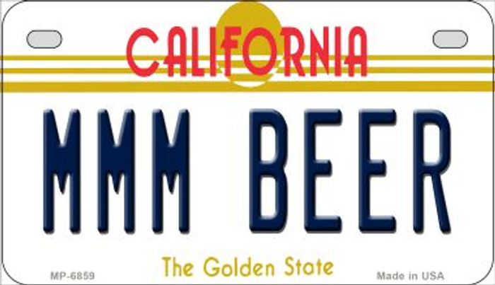 MMM Beer California Wholesale Novelty Metal Motorcycle Plate MP-6859