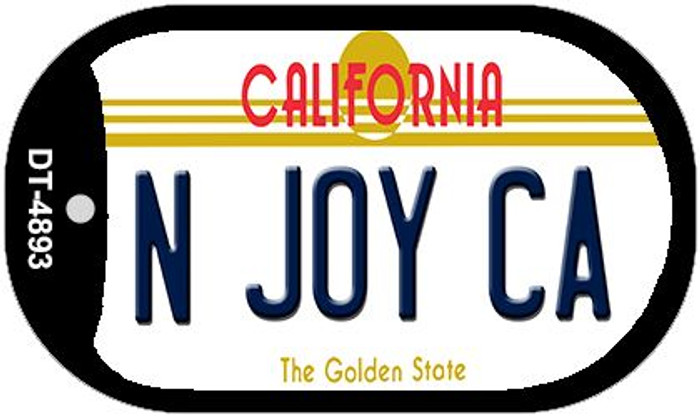 N Joy CA California Wholesale Novelty Metal Dog Tag Necklace DT-4893