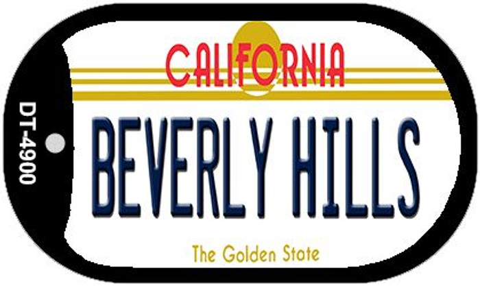 Beverly Hills California Wholesale Novelty Metal Dog Tag Necklace DT-4900