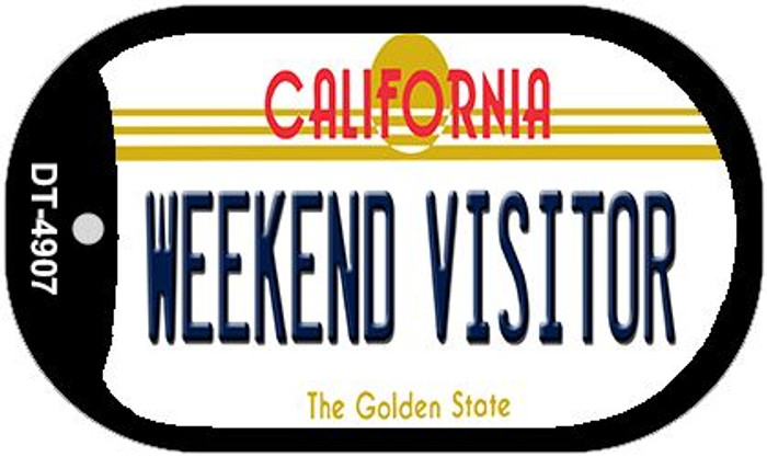 Weekend Visitor California Wholesale Novelty Metal Dog Tag Necklace DT-4907