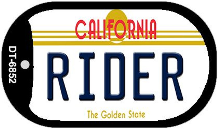 Rider California Wholesale Novelty Metal Dog Tag Necklace DT-6852