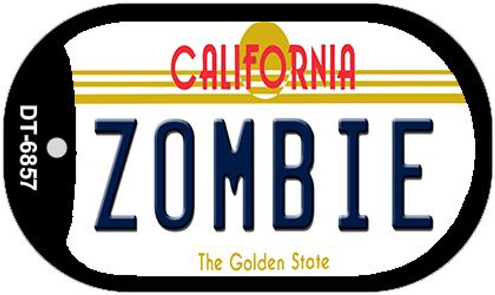 Zombie California Wholesale Novelty Metal Dog Tag Necklace DT-6857