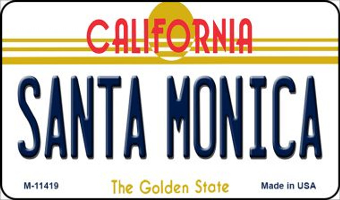 Santa Monica California Wholesale Novelty Metal Magnet M-11419
