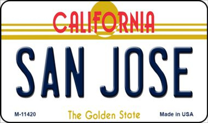 San Jose California Wholesale Novelty Metal Magnet M-11420