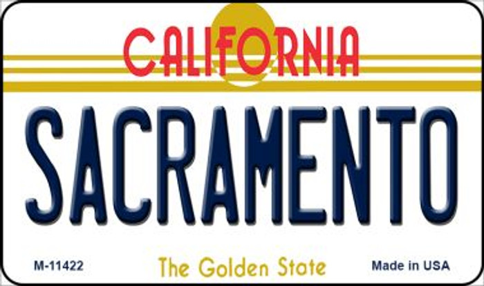 Sacramento California Wholesale Novelty Metal Magnet M-11422