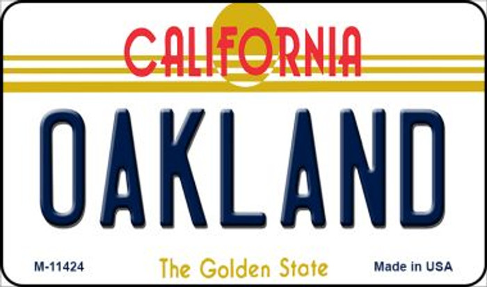 Oakland California Wholesale Novelty Metal Magnet M-11424