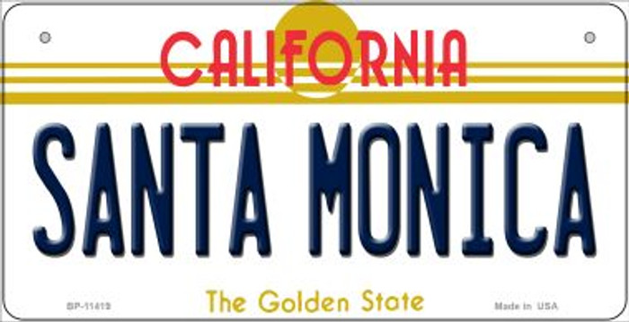 Santa Monica California Wholesale Novelty Metal Bicycle Plate BP-11419