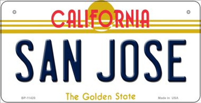 San Jose California Wholesale Novelty Metal Bicycle Plate BP-11420
