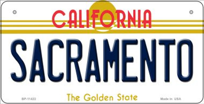 Sacramento California Wholesale Novelty Metal Bicycle Plate BP-11422