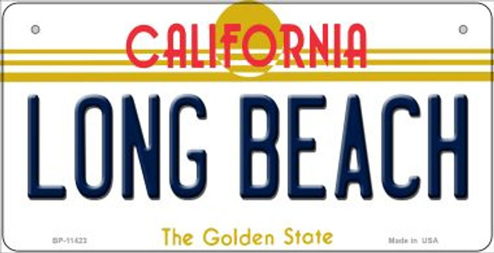 Long Beach California Wholesale Novelty Metal Bicycle Plate BP-11423