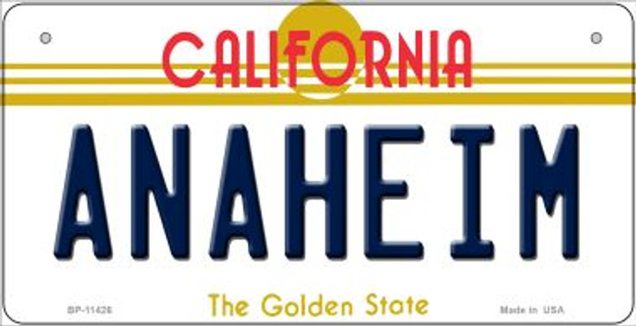 Anaheim California Wholesale Novelty Metal Bicycle Plate BP-11426