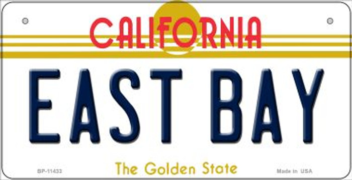 East Bay California Wholesale Novelty Metal Bicycle Plate BP-11433