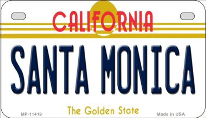 Santa Monica California Wholesale Novelty Metal Motorcycle Plate MP-11419