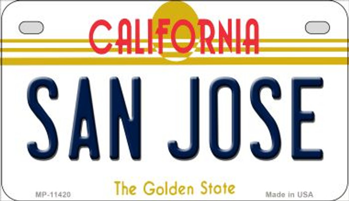 San Jose California Wholesale Novelty Metal Motorcycle Plate MP-11420
