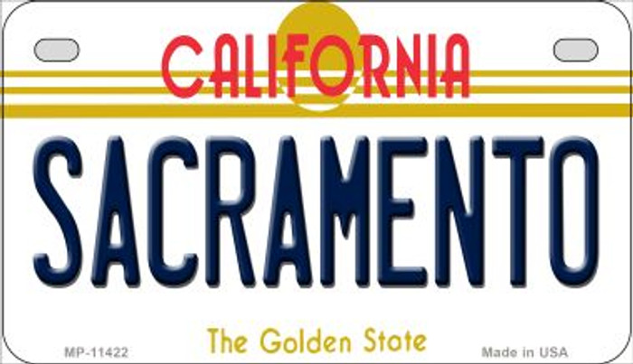 Sacramento California Wholesale Novelty Metal Motorcycle Plate MP-11422